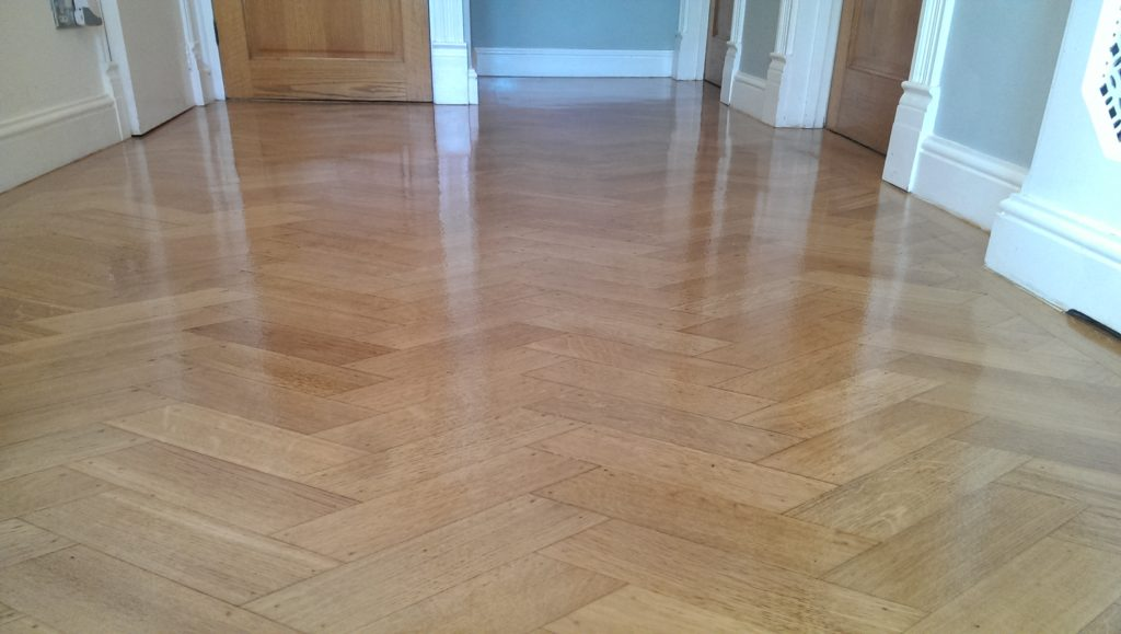 Herringbone Parquet oak Floor Sanding and Refinishing