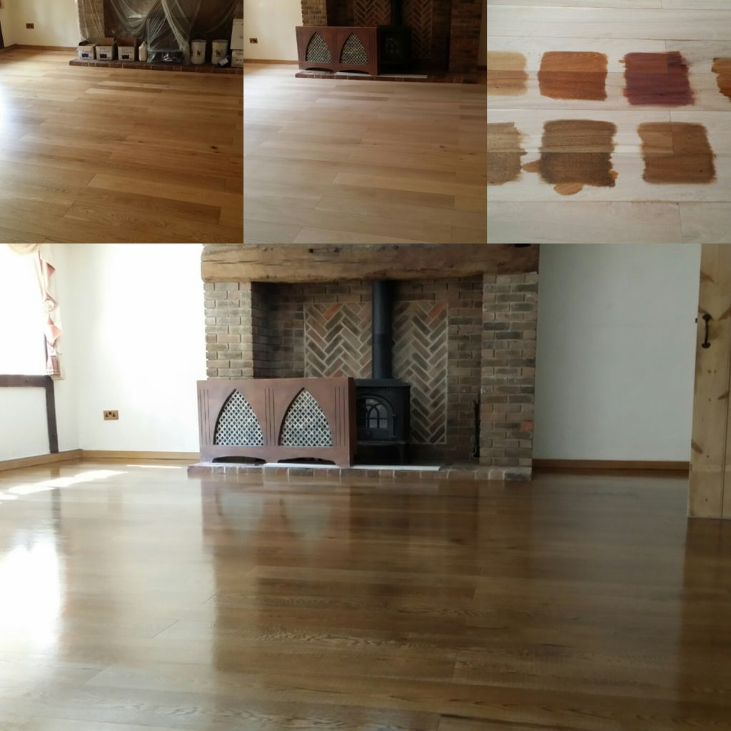 Absolute Floor Sanding and Hard Wood Refinishing with a Jacobean Dark Oak Stain