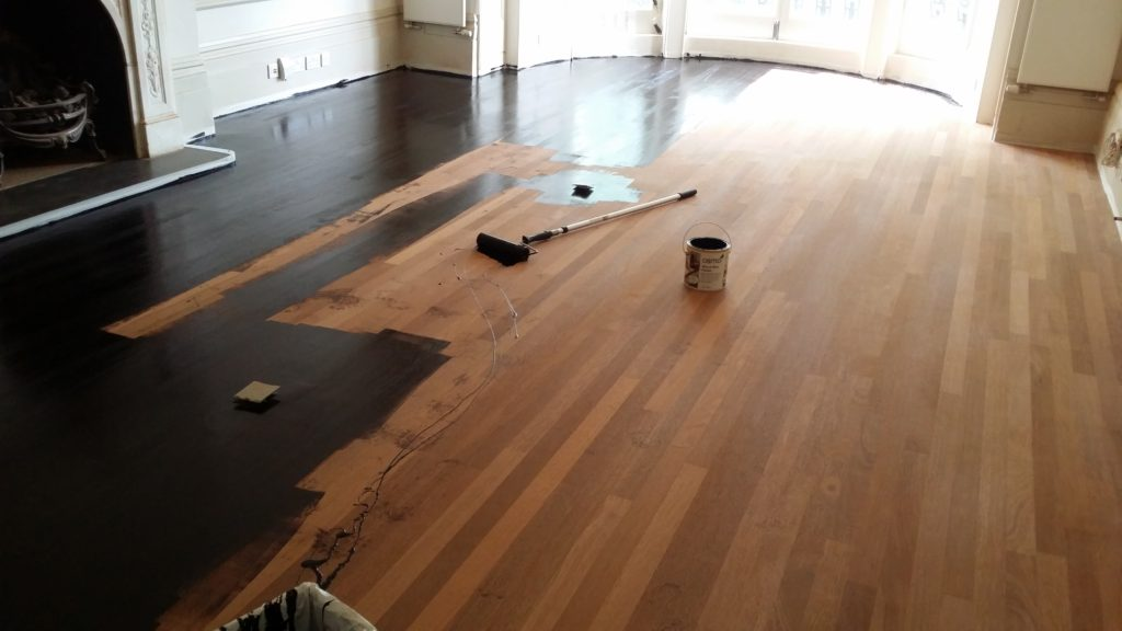 Floor Sanding and Osmo Ebony