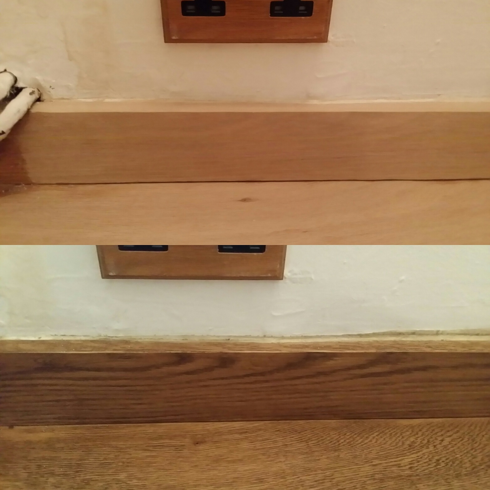 Wood skirting board sanding and refinishing