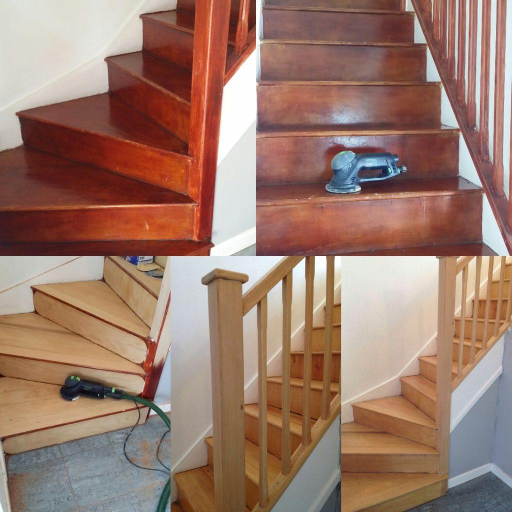 Stair Sanding and Refinishing
