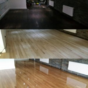 Commercial floor sanding at vojan Indian restaurant