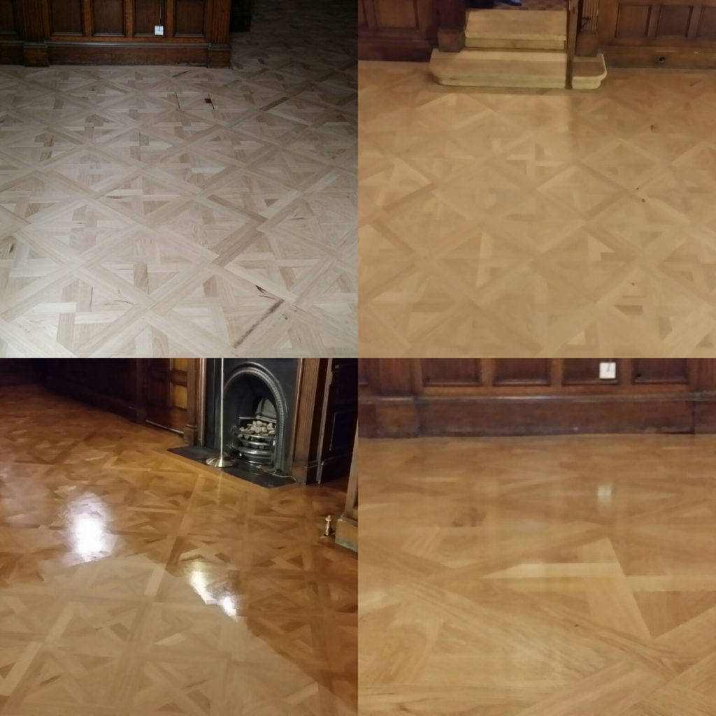 Commercial floor sanding and refinishing at bede's senior school