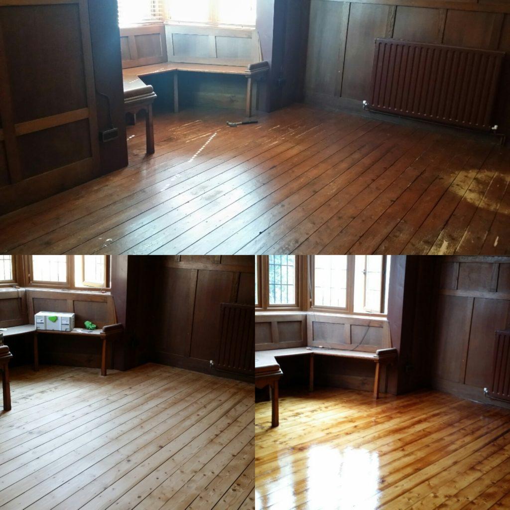 Pine Floor Board Restoration