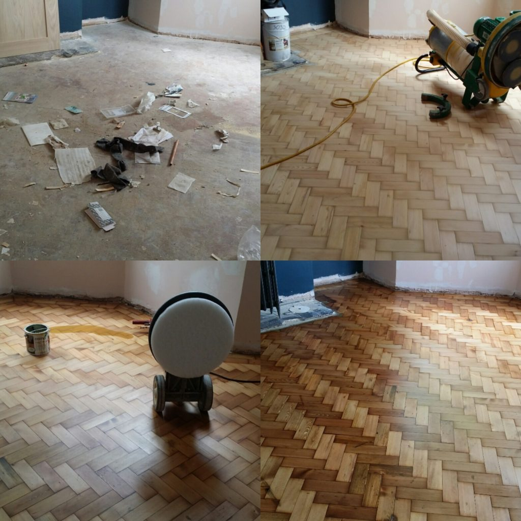 Parquet floor sanding and refinishing