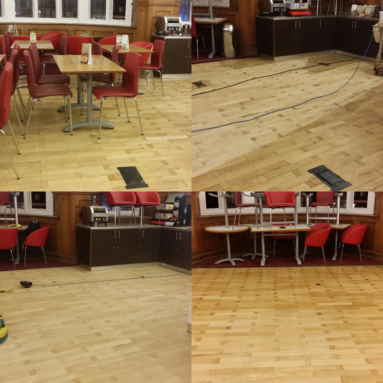Commercial floor sanding at travellodge kings cross