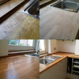 Kitchen worktop sanding