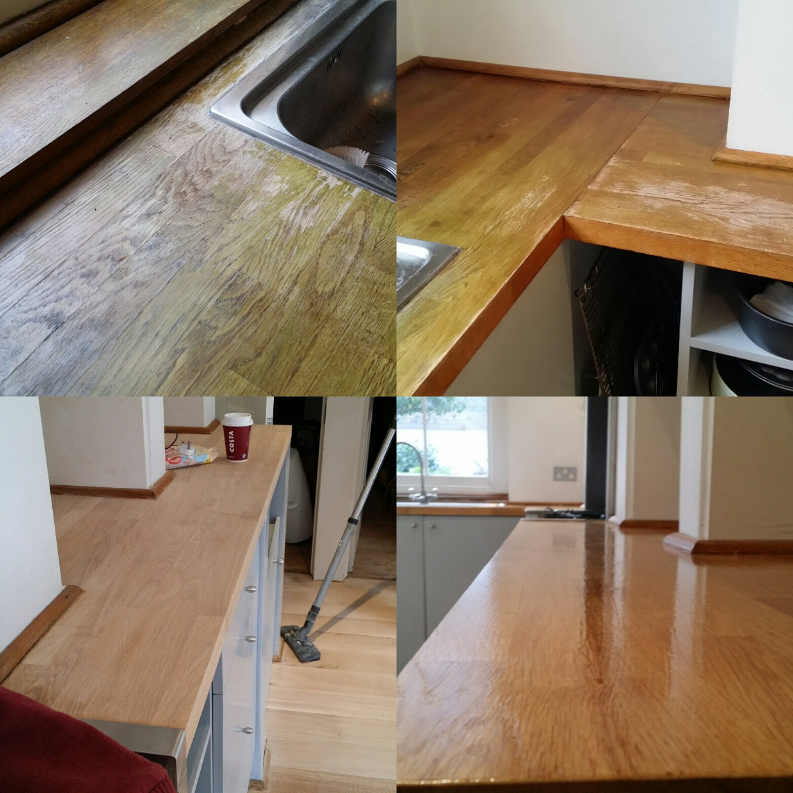 Kitchen Worktop Sanding and Refinishing
