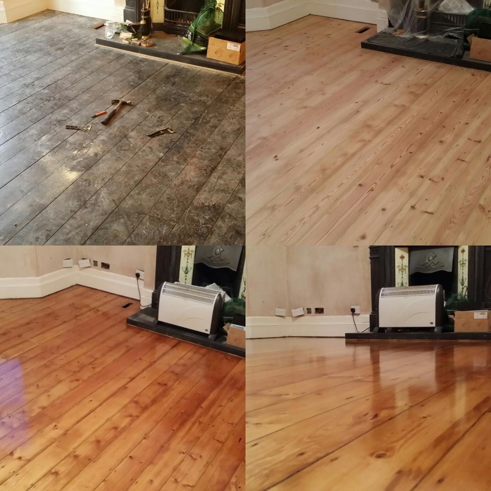 Pine Floor Sanding & Staining Essex