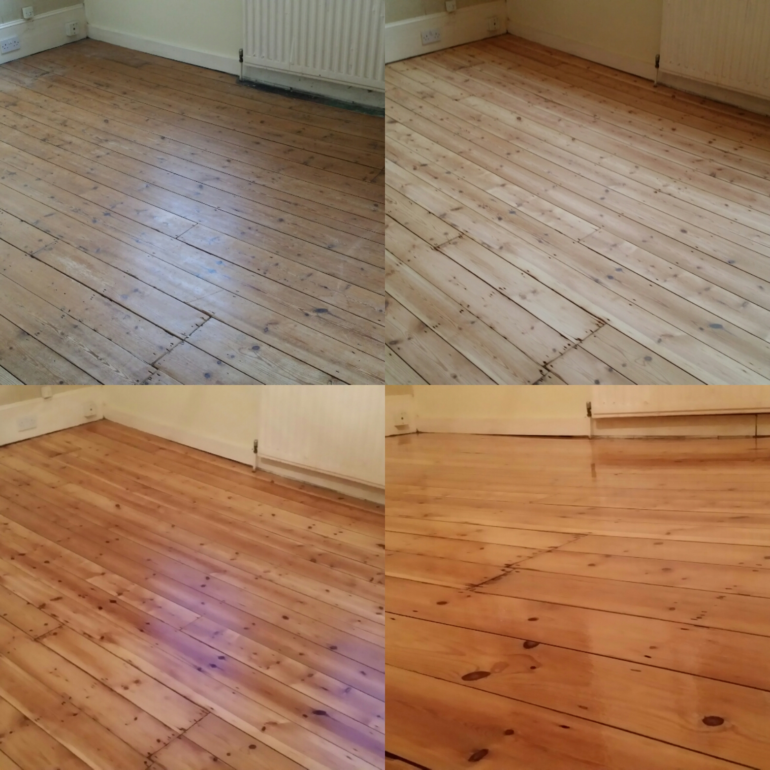 Pine Floor Board Sanding Services Essex