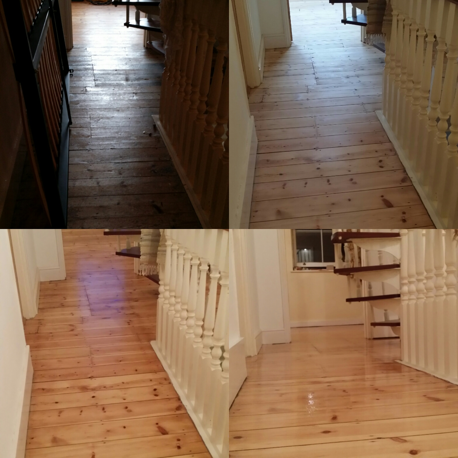 Pine Floor Board Restoration