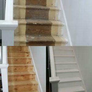 Stair Sanding Restoration