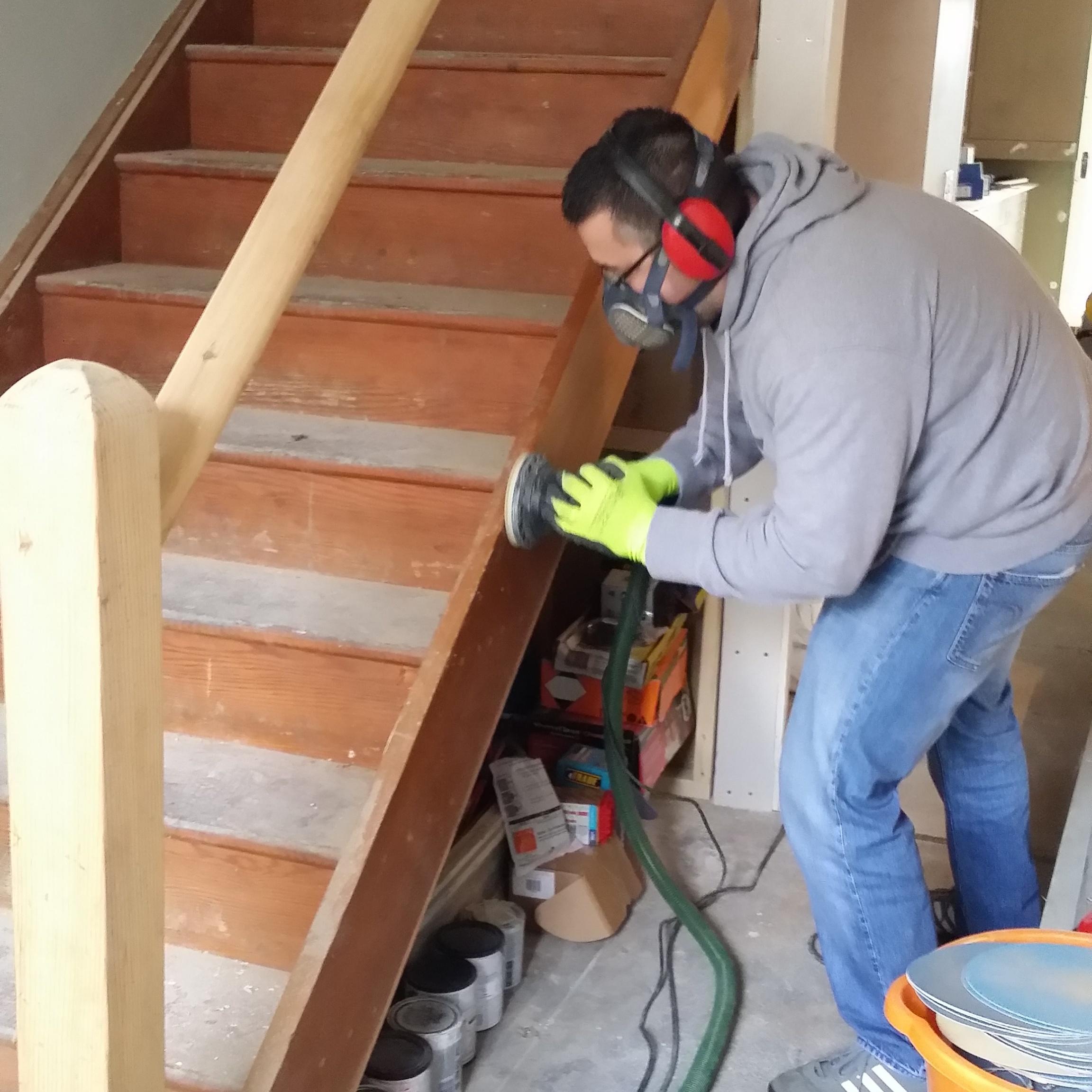 Stair Sanding Renovation