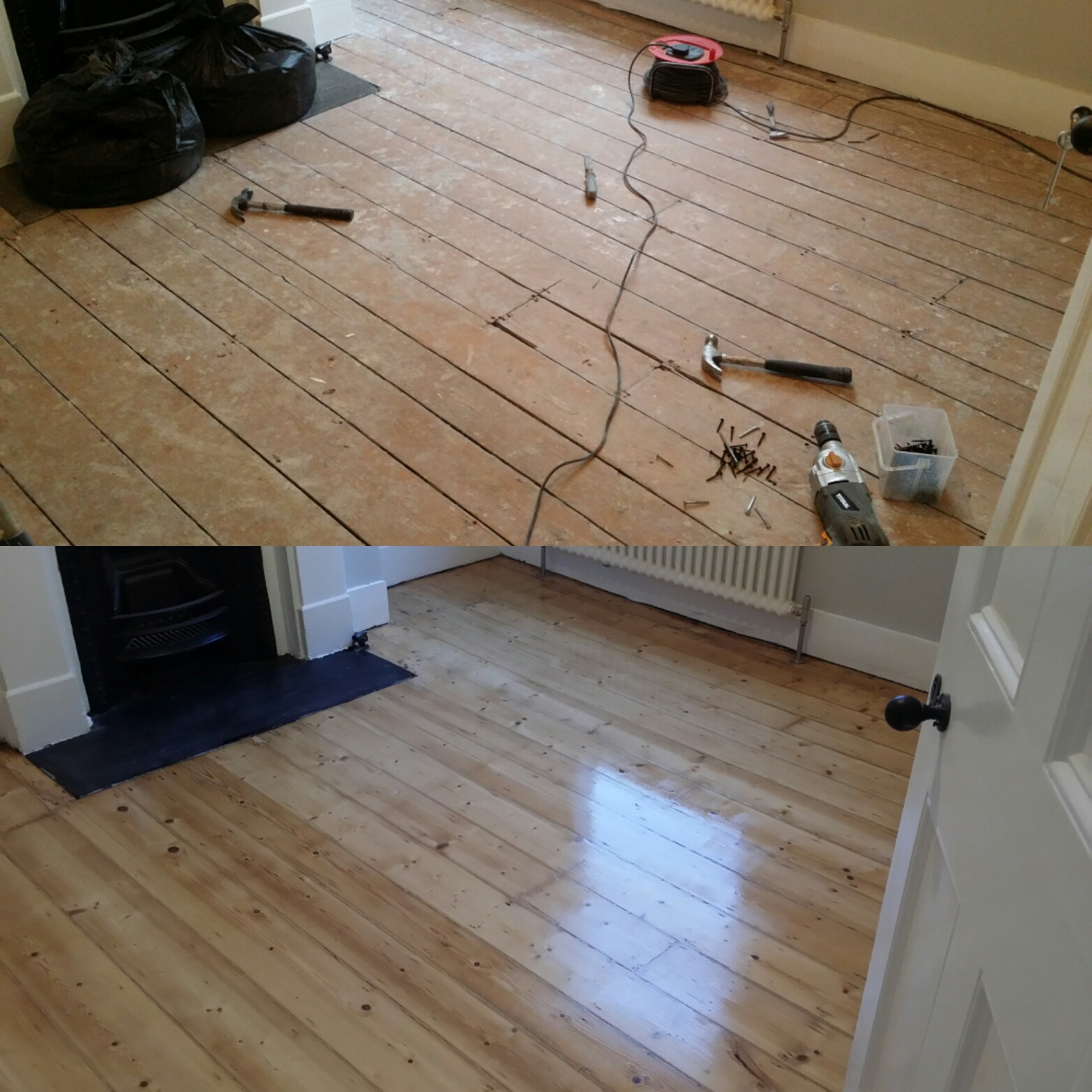 Pine Floor Board Sanding Services