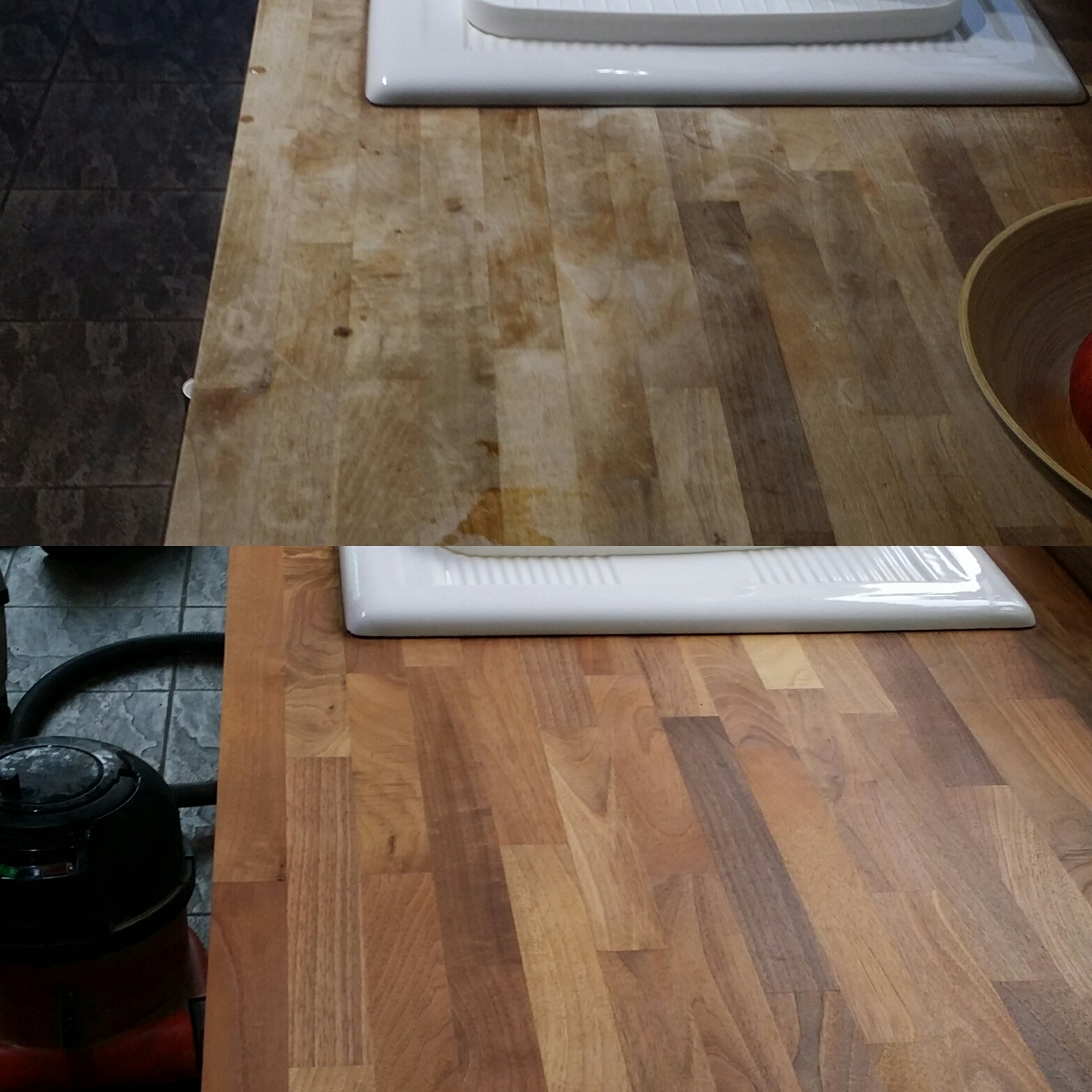 Kitchen Worktop Sanding and Refinishing