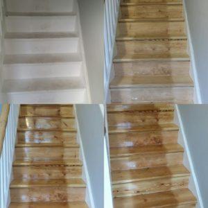 Pine Stair Sanding and Refinishing