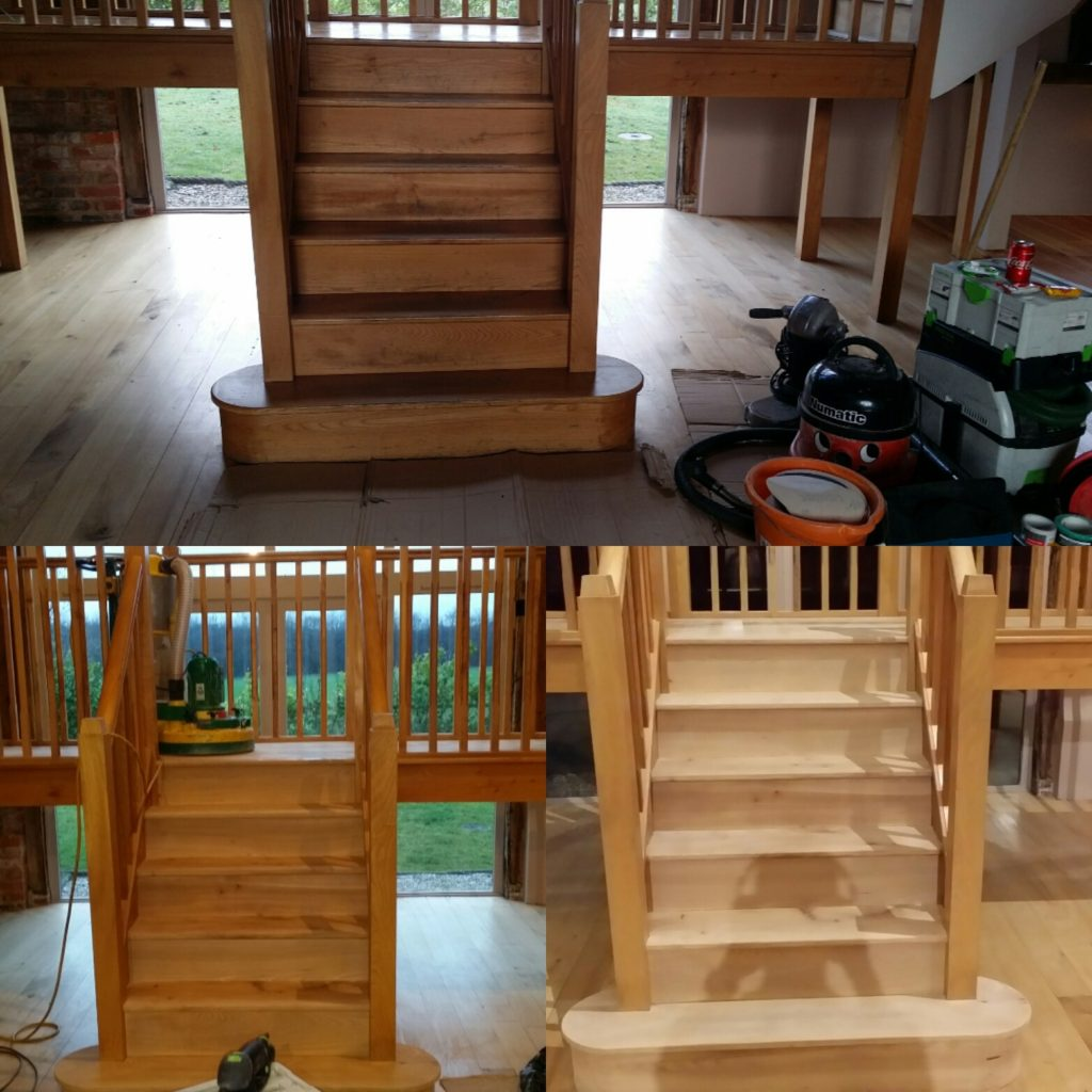 Oak Stair Sanding Services