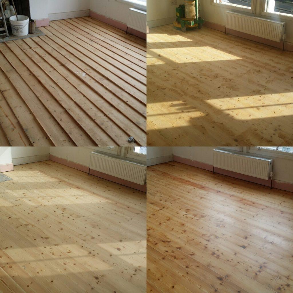 Pine Floor Board Sanding Services London