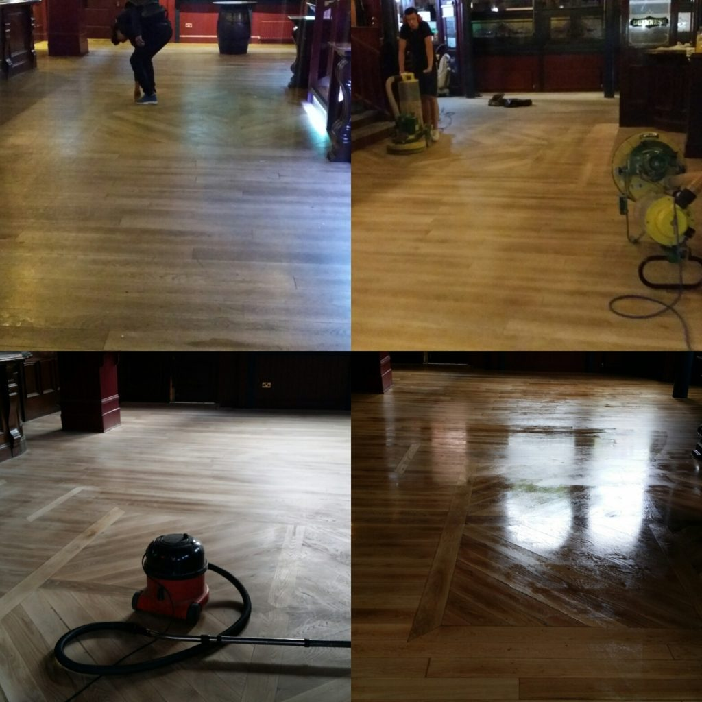 Sanding parquet floors
