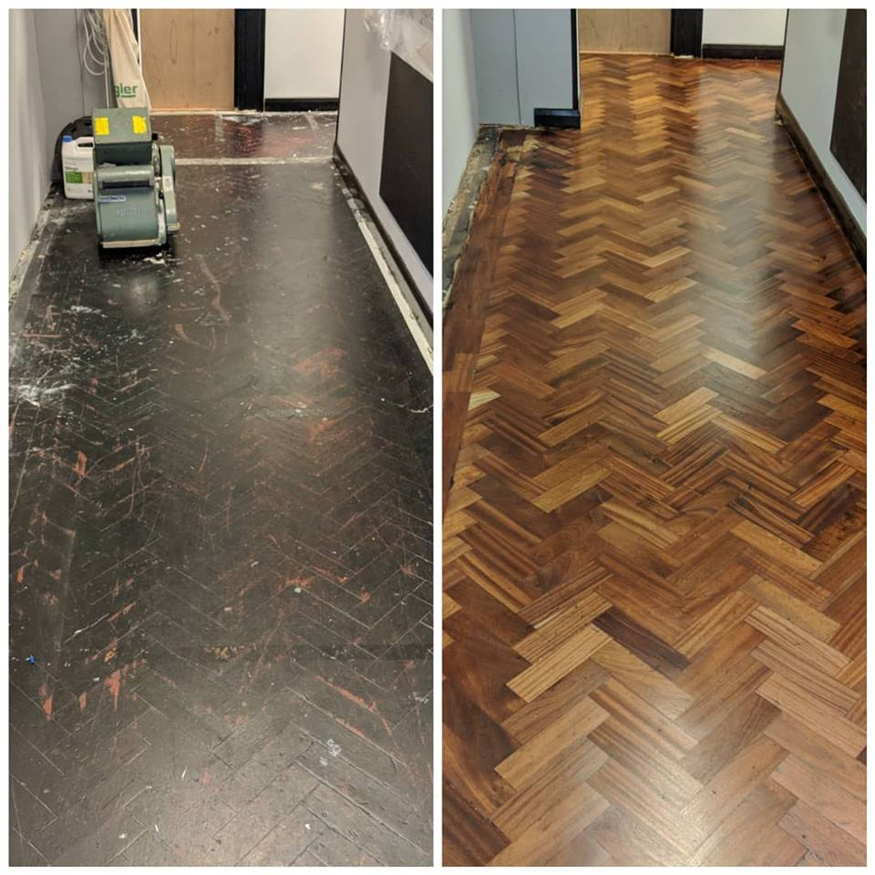 Parquet Commercial Floor Sanding and Refinishing in london