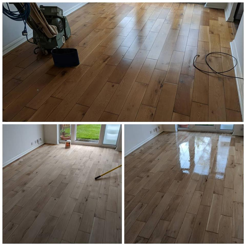 Oak Floor Sanding in Harlow