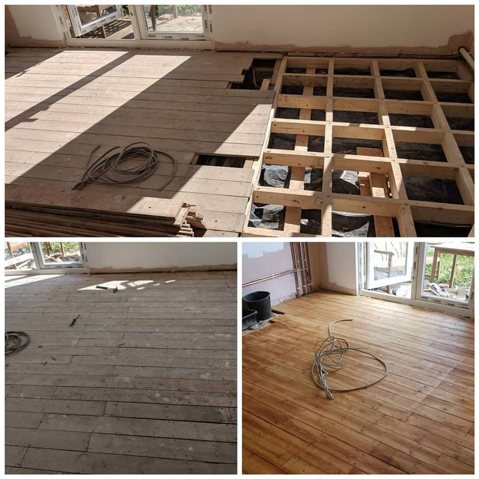 Pine Floor Sanding and Laying in Essex