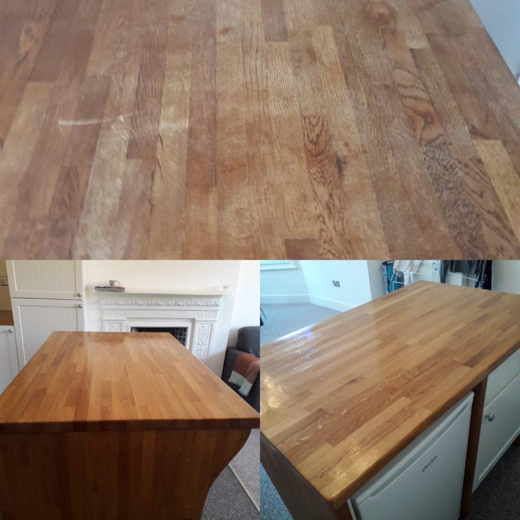 Kitchen worktop Sanding in London