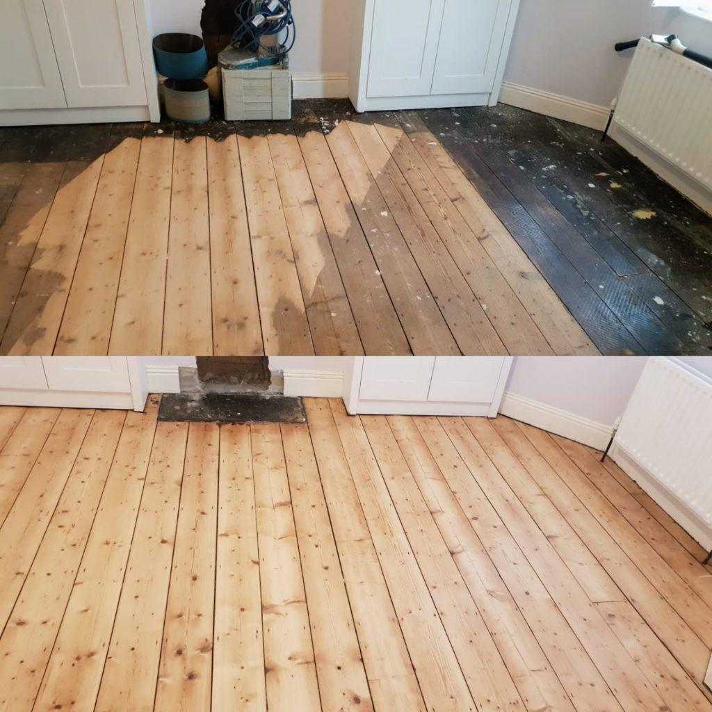 Pine Floor Board Sanding