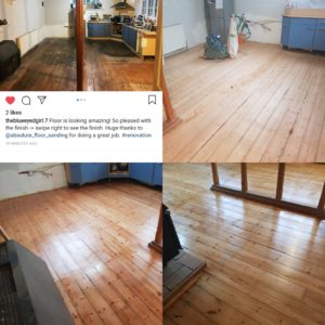 Church floor sanding