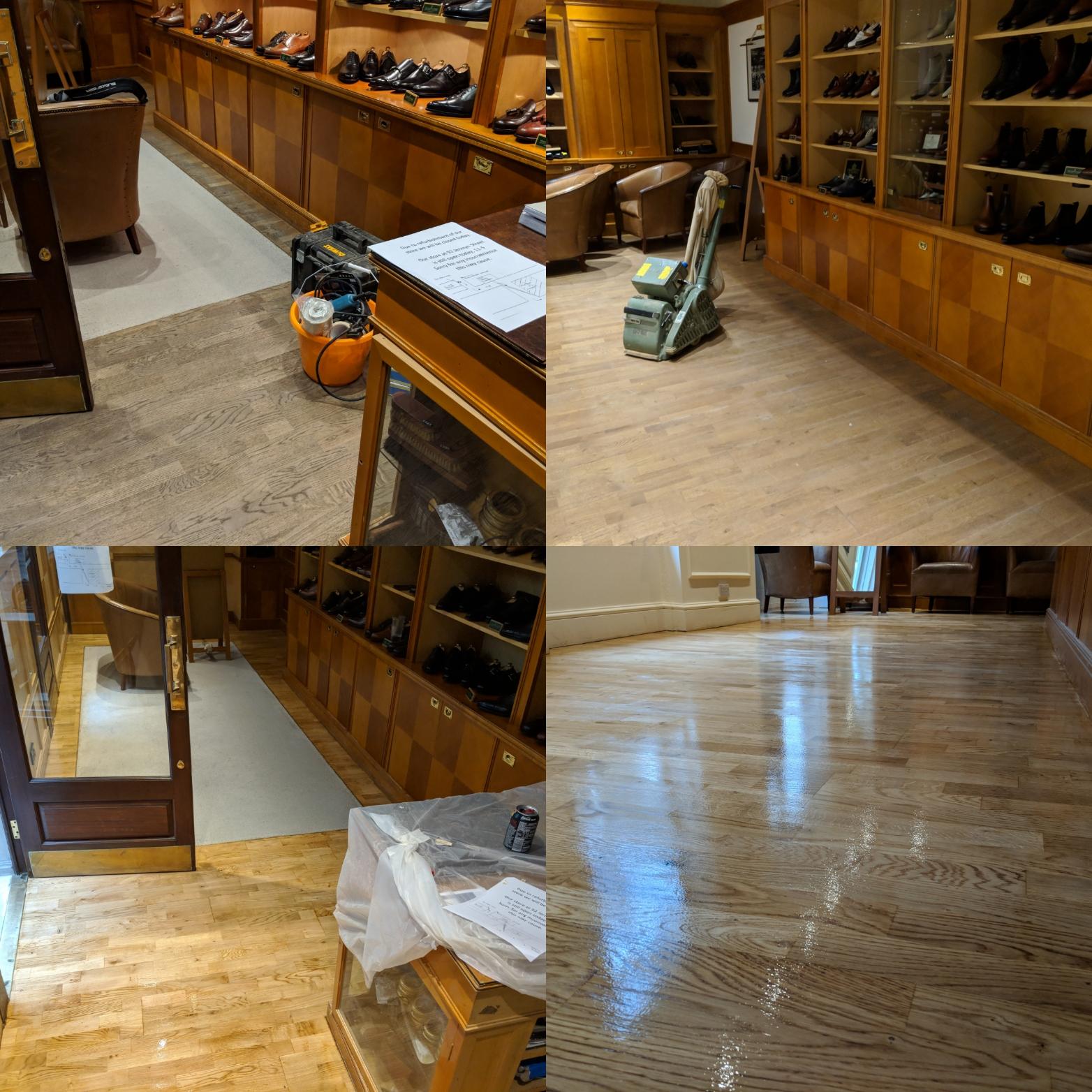 Crockett & Jones floor sanding