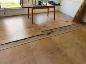 laminate flooring in the dining room