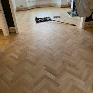reclaimed herringbone parquet floor image 11