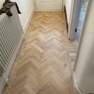 reclaimed herringbone parquet floor image 12