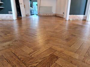 reclaimed herringbone parquet floor image 13