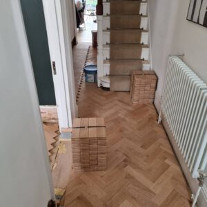 reclaimed herringbone parquet floor image 14