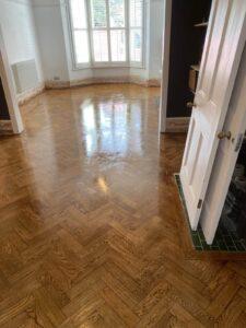 reclaimed herringbone parquet floor image 15