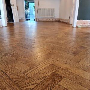 reclaimed herringbone parquet floor image 17