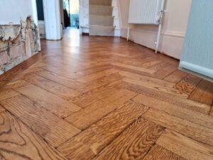 reclaimed herringbone parquet floor image 18