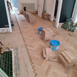 reclaimed herringbone parquet floor image 19