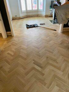 reclaimed herringbone parquet floor image 20