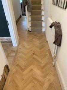 reclaimed herringbone parquet floor image 21