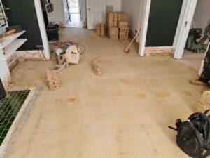 reclaimed herringbone parquet floor image 3