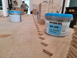 reclaimed herringbone parquet floor image 5