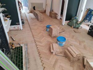 reclaimed herringbone parquet floor image 6