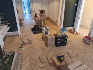 reclaimed herringbone parquet floor image 7