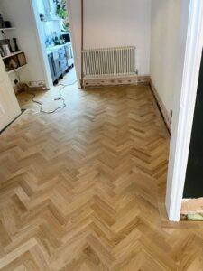 reclaimed herringbone parquet floor image 8