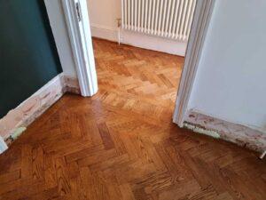 reclaimed herringbone parquet floor image 9