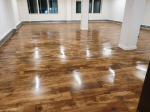 Commercial floor sanding and refinishing London Fleet Street