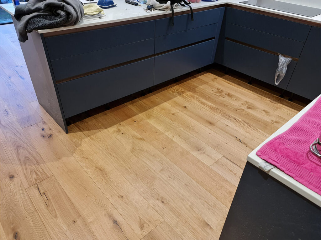 Pre finished Engineered wood floor installation Brighton