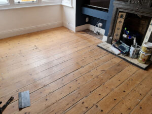 Sanding and refinishing project in Brighton
